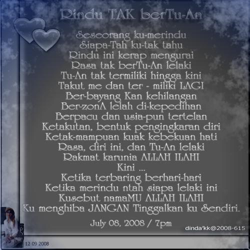 Rindu TAK berTu-An by dinda'kk